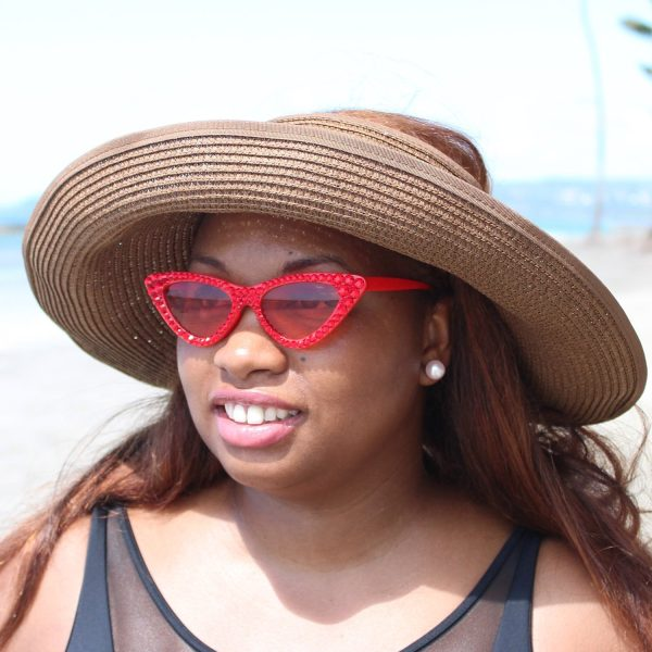 Cateye Crystal Trim Sunglasses