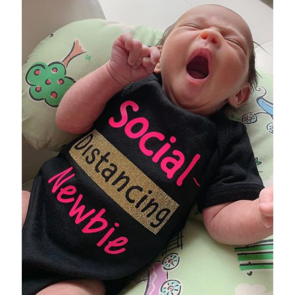 Baby Onesie, Boy, Girl, Social Distancing Onesie